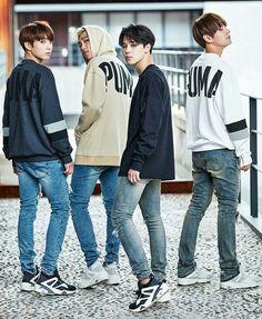 Jungkook, Rap Monster, Jimin and V ❤ BANGTAN for PUMA #BTS #방탄소년단