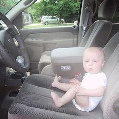 "bryanbaeumler: ""#tbt 5 month old Quintyn checking out his new Hemi...he's always had good taste in trucks. @ramtrucks"""