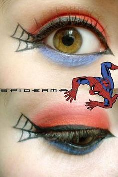 Another idea for staff photos.  FYI: Heather is good at face painting. Super Hero Makeup