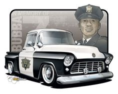1955 Chevy Truck - Vehicle Rendering by SIN Customs artist Ryan Curtis