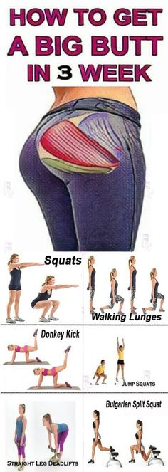 No Squats Booty Workout Butt Lifting Exercises Fitness Workouts, Ab Workouts, At Home Workouts, Fitness Tips, Fitness Motivation, Squat Workout, Workout Challenge, Bigger Buttocks Workout, Body Fitness