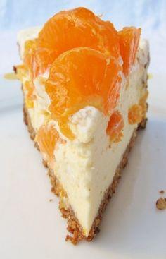 Low FODMAP and Gluten Free Recipe - Mandarin Cheesecake