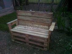 fotografie0042 600x450 Garden benches from pallets in pallet outdoor project  with pallet Outdoor Bench