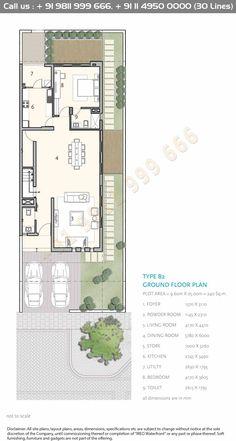 Modern Floor Plans, Home Design Floor Plans, Modern House Plans, Small House Plans, House Floor Plans, House Layout Plans, House Layouts, Rectangle House Plans, House Construction Plan