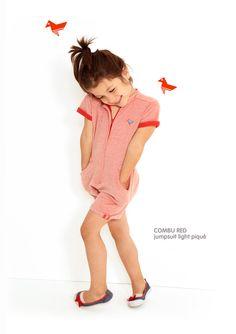 Dis Une Couleur - COMBU RED JUMPSUIT Red Jumpsuit, Elegant Outfit, Little Ones, Children, Kids, Style Inspiration, Disney Princess, Disney Characters, Fabric