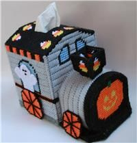 Halloween Train Tissue Topper