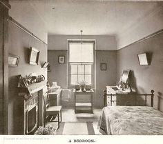 Nurses Bedroom A typical bedroom in the nurses home circa 1910. Leicester Royal Infirmary