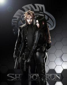Shadowrun Wallpaper 1 by Vynthallas.deviantart.com on @DeviantArt Final Fantasy 7 Cloud Tifa