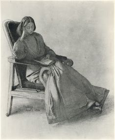Dante Gabriel Rossetti Portrait of Elizabeth Siddal, Reading - 1854 Dante Gabriel Rossetti, William Morris, A4 Poster, Poster Prints, Art Prints, Illustrations, Illustration Art, Elizabeth Siddal, John Everett Millais
