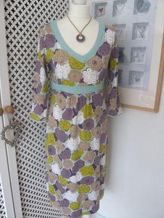 Boden Woven Trim Jersey Dress