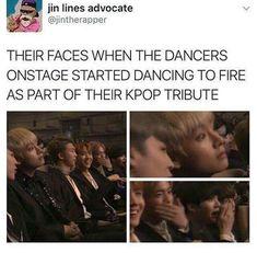 their faces