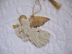 angel ornament . china angel ornament  .angel . china angel  . angel ornament . angel xmas ornament by vintagous on Etsy