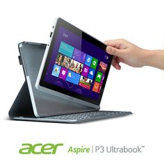 """There's more to life than work, and that's why we've created the Acer Aspire P3. Not only is it a fully functioning 11.6"""" Ultrabook, but it also transforms into a sleek and stylish tablet for use on the go. So whether you're composing an email, or your next musical masterpiece, the Acer Aspire P3 is the perfect piece of technology for it all. HAVE FUN!!!"""