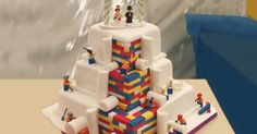 LEGO Wedding Cake   20+ More Creative Cakes That Are Too Cool To Eat   Bored Panda