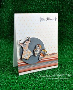 Lawn Fawn - Teeny Tiny Backdrops, Swimsuit Season, Sophie's Sentiments;  by lawnfawncards/Kelly Marie, via Flickr