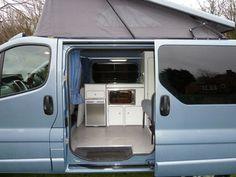 Trust Camper Kong to convert your base van into the camper van of your dreams to help you explore and escape! Vauxhall Vivaro Camper, Nissan, Campervan Interior, Campervan Ideas, Converted Vans, Van Dwelling, Day Van, Camper Van Conversion Diy, Van Living