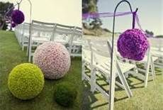 The infamous flower balls....My mother loves this idea too!