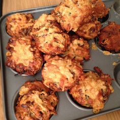 This week's breakfast : Red onion, sharp cheddar muffins, spiked with fresh chives.