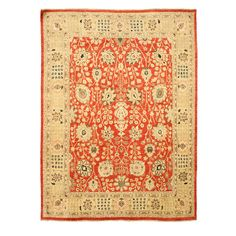 Found it at Wayfair - Mathabhanga Hand-Knotted Red Area Rug