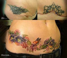 Trendy ideas piercing na sobrancelha cicatriz C Section Scar Tattoo, Tummy Tuck Scar Tattoo, Tummy Tuck Scars, Stomach Tattoos Women, Belly Tattoos, Body Art Tattoos, Tattoos For Women, Tatoos, Tattoos To Cover Scars