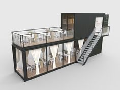 Restaurant and Cafe Shipping Ccontainer Model - Smart Decoration Ideas Shipping Container Restaurant, Shipping Container Home Designs, Container House Design, Cafe Shop Design, Kiosk Design, Signage Design, Design Design, Graphic Design, Building A Container Home