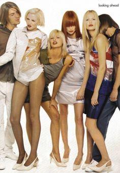 90's Helmut Lang, Nadja Auermann, Linda Evangelista, Meghan Douglas and Karen Mulder