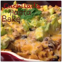Enchilada Pasta Bake Posted by Carrie Lorentz An easy, very fast (less than 30 minutes) dinner that will make everyone happy Prep Ti... #wholewheatpastarecipecups