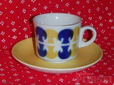 ARABIAN RETROJA BR-MALLIN KAHVIKUPPEJA Finland, Coffee Cups, Retro Vintage, Ceramics, Tableware, Kitchen, Fabric, Design, Corning Glass