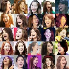 the way she laughs! so gorgeous! Im Yoon Ah, Yoona, Kpop, Collage, Collage Art, Collages, Colleges