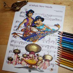 Artist Ursula Doughty uses our 300 Series Bristol Smooth paper for her sheet music art. Disney Sheet Music, Sheet Music Art, Disney Songs, Disney Art, Music Sheets, Deco Disney, Disney Love, Disney And Dreamworks, Disney Pixar