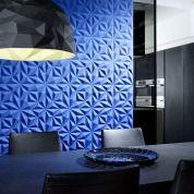 Arte Rosace Blue WallcoveringBuy Arte Rosace Blue Wallcovering Fabric & Wallpaper at Amersham Designs 3d Wandplatten, Arte Wallcovering, 3d Wall Panels, Interior Decorating, Interior Design, 3d Wallpaper, Elegant Homes, Blue Walls, Contemporary Furniture
