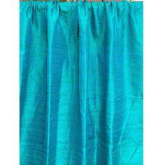 Ocean Blue 100 Percent Pure Silk Dupioni Grommet by FabricMart