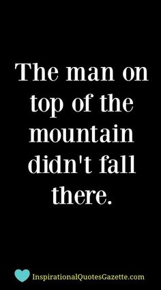 The man on top of the mountain didn't fall there #PTSD #quotes #briandmahansep