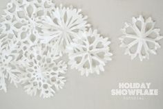 snowflakes from coffee filters.