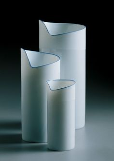 Pieter Stockmans, porcelain, contemporary Belgium ceramic artist with work in Victoria and Albert Museum.
