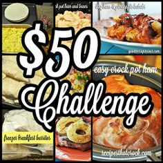How many meals could you make with 50 dollars?