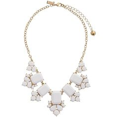 Kate Spade New York Daylight Jewels Necklace, White ($80) ❤ liked on Polyvore featuring jewelry, necklaces, accessories, colar, white, cluster necklace, jeweled necklace, heart jewelry, adjustable chain necklace and white necklace