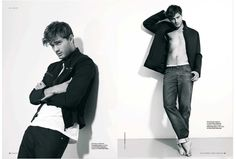 jamie dornan | Supermodel Jamie Dornan in a subtle black and white portrait shoot by ...