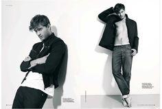 jamie dornan | Supermodel Jamie Dornan in a subtle black and white portrait shoot by ...