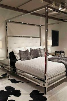 bedroom canopy bedsmirror - Mirror Bed Frame