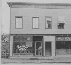 1899 - Park Street businesses Tupper Lake Public Library  http://cdm16694.contentdm.oclc.org/cdm/ref/collection/tupper/id/174  I wonder if it was noisy to bike along a boardwalk like that.