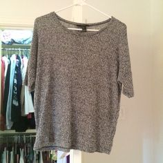 Forever 21 Woven Shirt Slightly sweater-like material, heather grey, no snags Forever 21 Tops Blouses