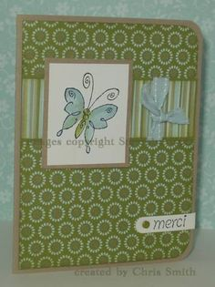 Butterfly merci by inkpad - Cards and Paper Crafts at Splitcoaststampers