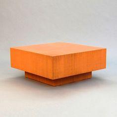Block Coffee Table // Orange  By Jeb Jones