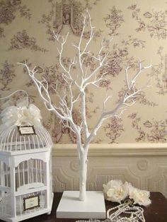 Wedding Wishing Tree Wish Vintage Manzanita White 85 Cm High