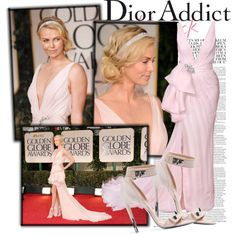 Best red carpet ever ---> Charlize Theron in Christian Dior, created by cri87.polyvore.com