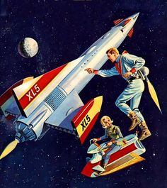 """60s sci-fi merchandise based on Gerry Anderson's """"Fireball XL5"""" TV series (1962-63)."""