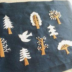 冬っぽいカラーで❄️⛄️ #刺繍 #embroidery #樋口愉美子 #ハンドメイド #冬