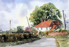 Keith Collins watercolour paintings