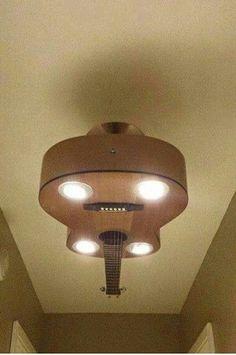 Guitar ceiling light.